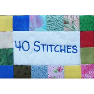40 Stiches Stickerei Dienst / Embroidery Service