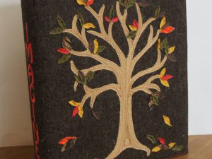 Besticke Ordnerhülle Herbst | embroidered binder cover