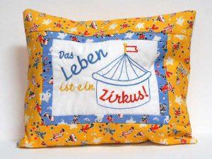 Das Leben ist ein Zirkus Kissen | Life is a circus pillow