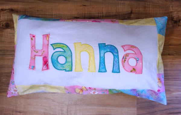 Namenskissen Hanna