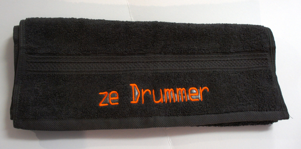 'ze Drummer' - personalized towel