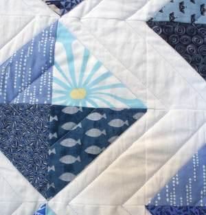 Detail blaue Decke