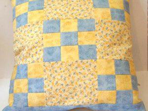 Kissen - gelb und blau