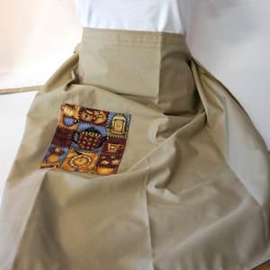 Kellnerschürze in beige mit Tasche