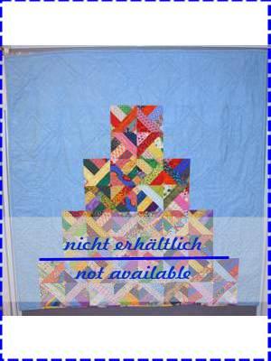 Pyramid Patchwork Decke in blau und bunt